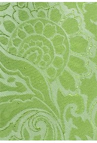 Krawatte grün Rankenmuster