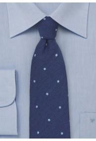 Krawatte Wolle Pünktchen royal