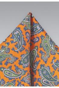 Kavaliertuch orange Paisley-Muster