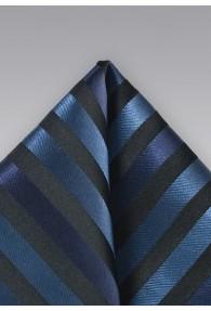 Einstecktuch  Streifendessin schwarz blau