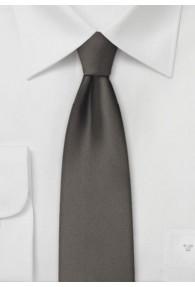 Krawatte schmal geformt unifarben mittelbraun