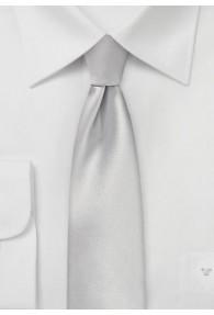Krawatte schmal geformt monochrom hellgrau