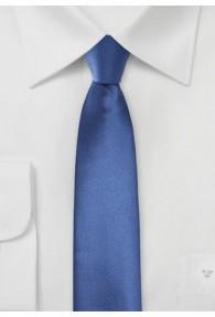 Herrenkrawatte schmal geformt unifarben dunkelblau