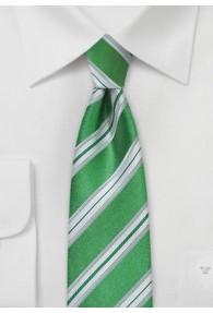 Krawatte schmal geformt Streifenmuster waldgrün