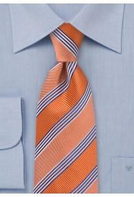 XXL-Krawatte gestreift orange