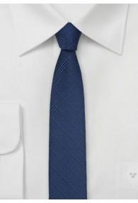 Krawatte schmal Karo-Struktur navy