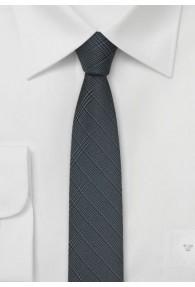 Krawatte schmal Karo-Oberfläche anthrazit