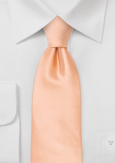 Sicherheits-Krawatte apricot Kunstfaser
