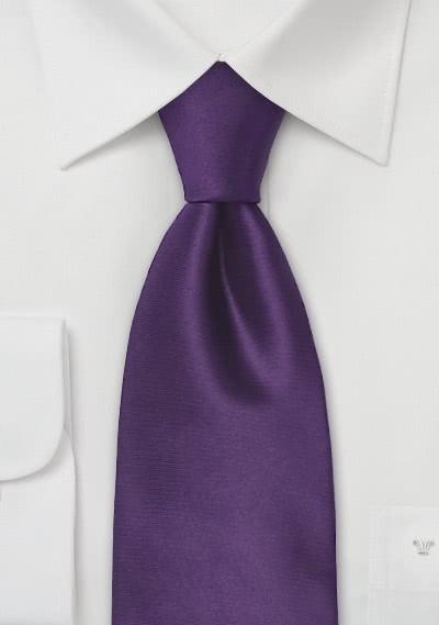 Herren Krawatte edles Aubergine