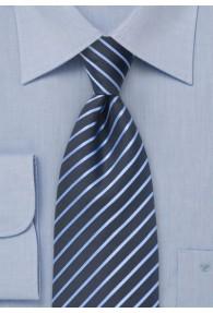 Clipkrawatte Streifen hellblau navy