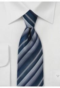 Sicherheits-Krawatte Streifen silber navy