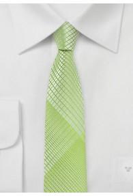 Kravatte schmal  geometrisches Dekor blassgrün