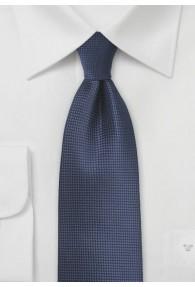 Krawatte einfarbig navy Struktur