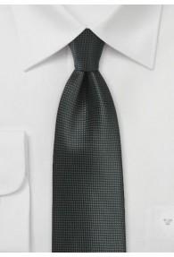 Herrenkrawatte monochrom schwarz strukturiert