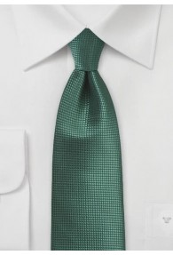 Businesskrawatte einfarbig dunkelgrün strukturiert