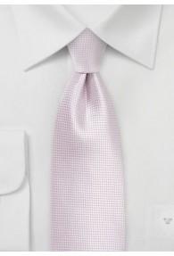 Krawatte einfarbig hellrosa Struktur