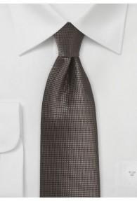 Krawatte einfarbig dunkelbraun Struktur