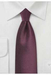 Krawatte unifarben brombeer Struktur
