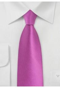 Krawatte unifarben magenta Struktur
