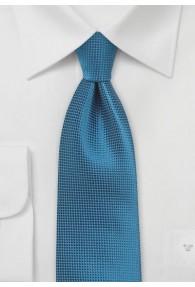 Krawatte einfarbig petrol Struktur