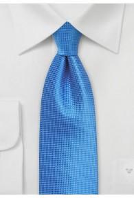 Krawatte einfarbig blau strukturiert