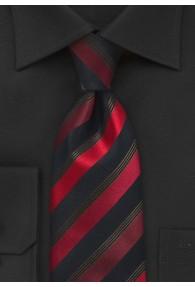 Sicherheits-Krawatte Streifen schwarz rot