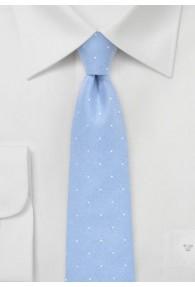 Krawatte Tupfen eisblau Baumwolle