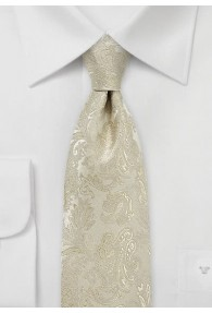Krawatte Paisleymotiv ecru