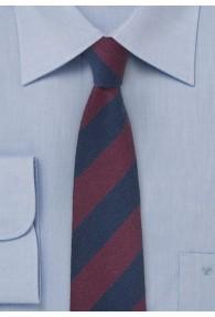 Herrenkrawatte konservative Streifen nachtblau