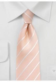 Krawatte Business-Linien lachsfarben