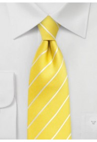 Krawatte Business-Streifen gelb