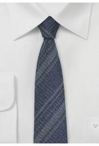 Kravatte Seide Woll-Look dunkelblau