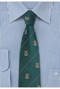 Herrenkrawatte Wappen tannengrün