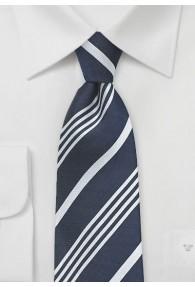 Krawatte nachtblau  Streifendessin