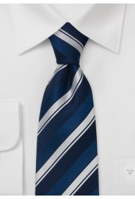 XXL-Krawatte blau silber