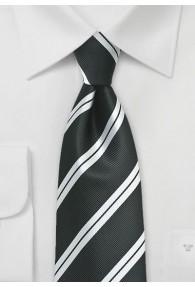 Kravatte Streifendessin schwarz weiß