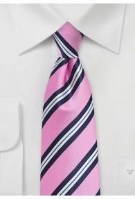 Krawatte gestreift rosa navy