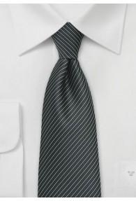 Businesskrawatte schwarz Lamellen-Streifen