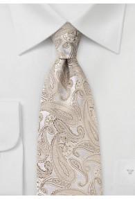 Krawatte Paisley champagner