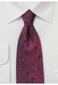 Krawatte Paisleymuster rot