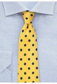 Krawatte grob gepunktet gelb navy