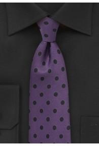 Krawatte grob getupft lila schwarz