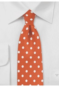 Krawatte grob getupft orange weiß