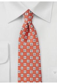 Krawatte große Blüten lachs