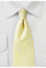 Stylische Krawatte im Paisley-Look pastellgelb