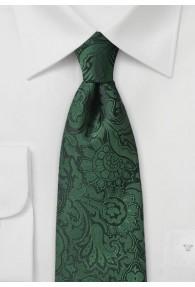 Auffallende Krawatte im Paisley-Stil edelgrün