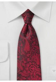 Markante Krawatte im Paisley-Design rot