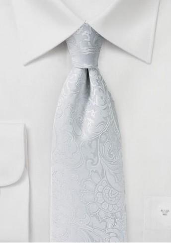 Markante Krawatte im Paisley-Look weiß