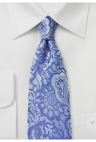 Markante Krawatte im Paisley-Look blau