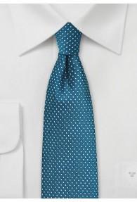 Krawatte Punkte dunkeltürkis